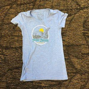 Mount Rainier National Park Eddie Bauer Tee Shirt